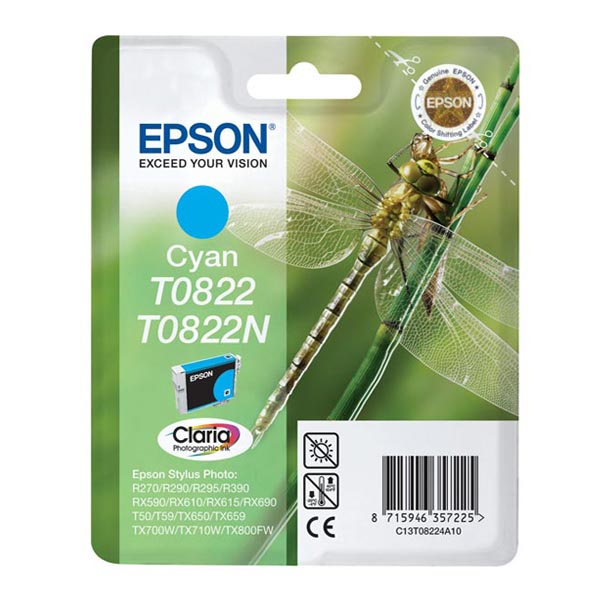 ����. ACTIVEJET ��-822 Epson T0822 R-270/390 Cyan �����! (��-822)